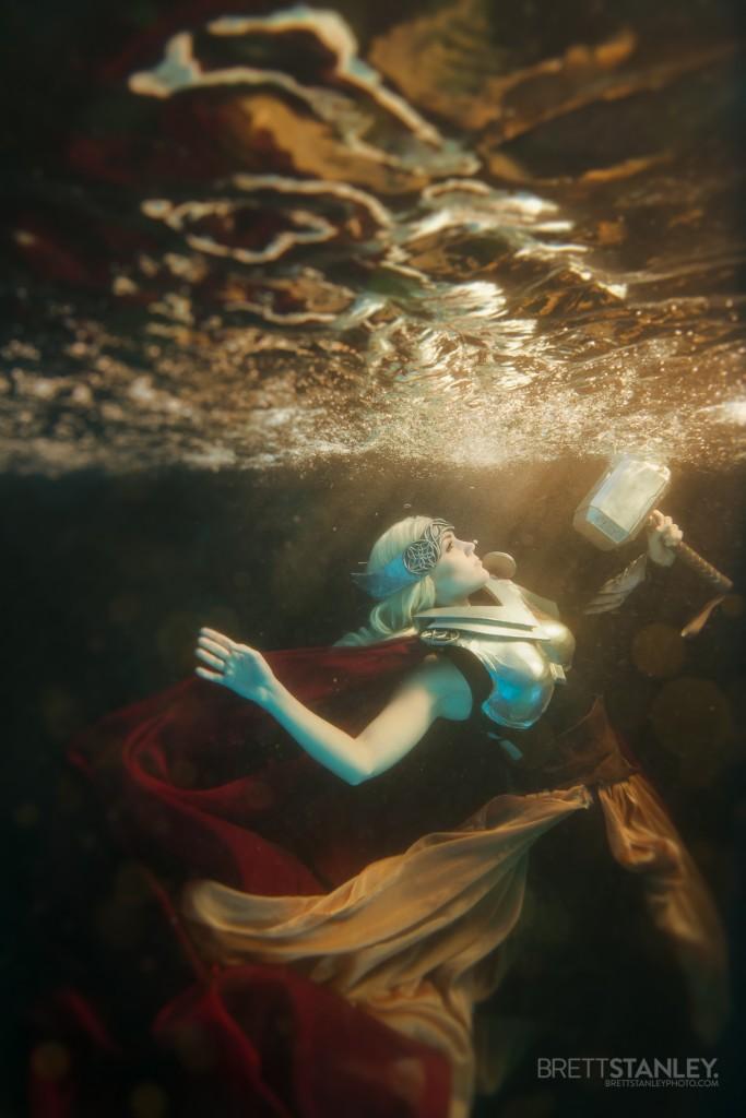 Underwater Cosplay Thor