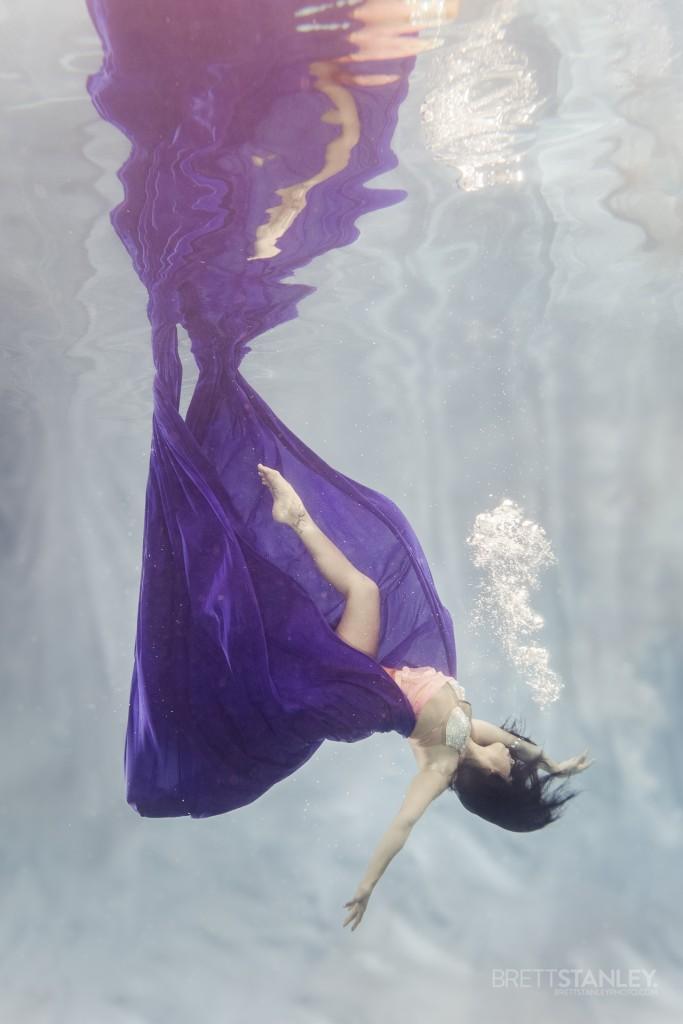 Aerial Silks Underwater