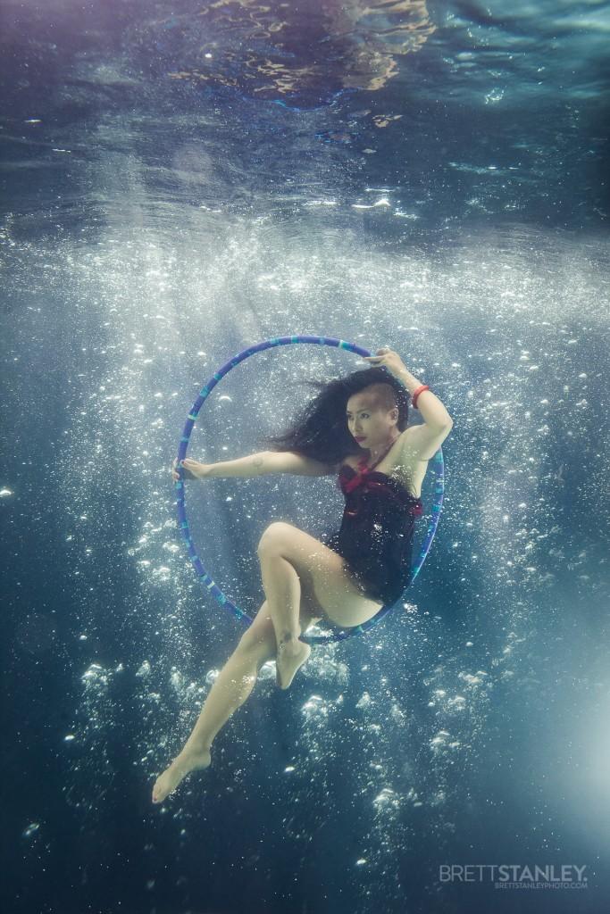Aerial Hoop Underwater