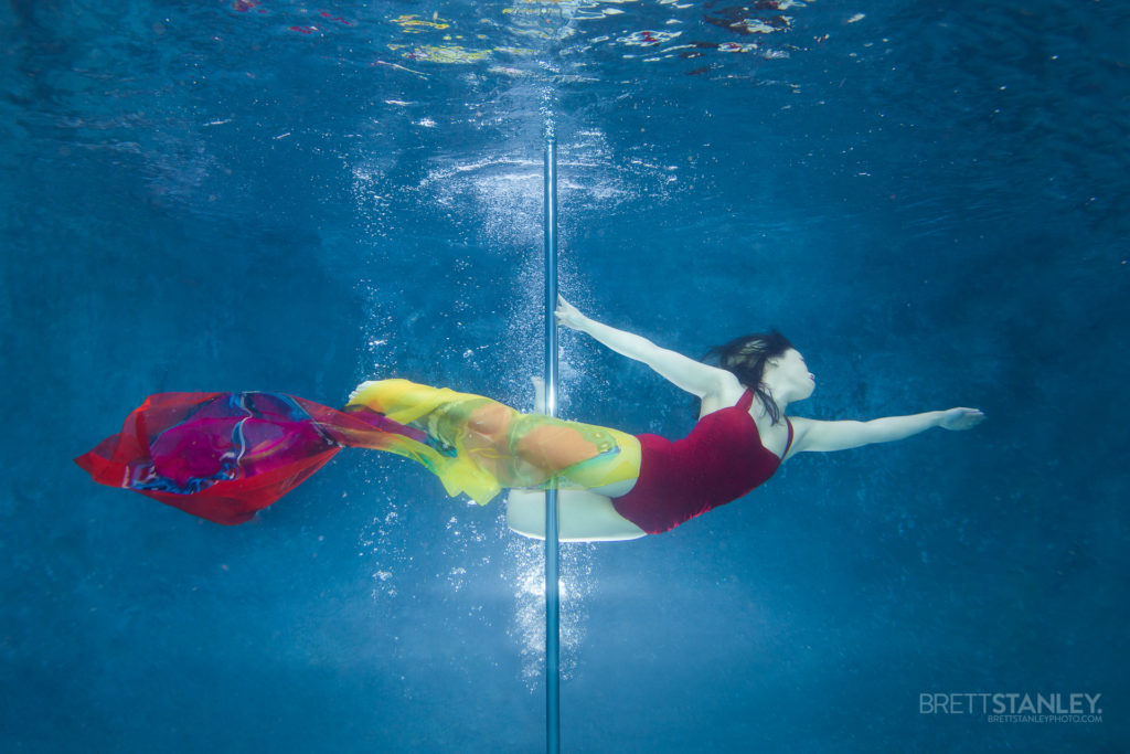 Pole Dance Underwater