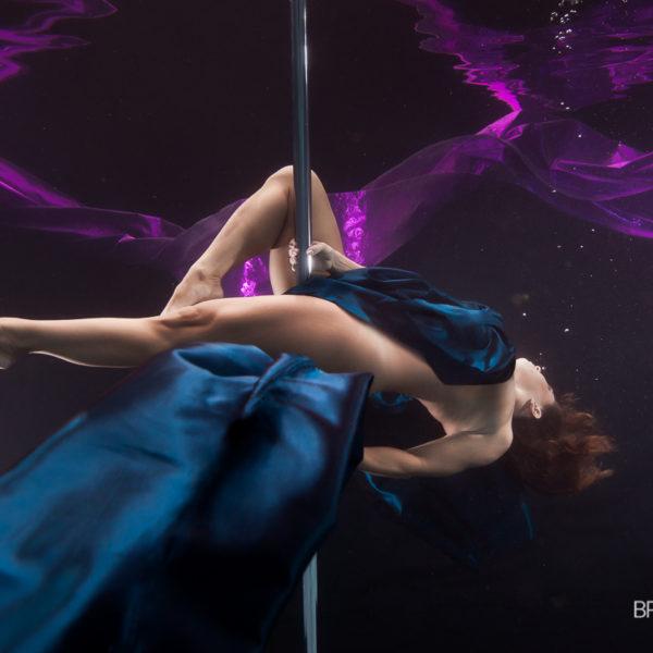 pole dance underwater