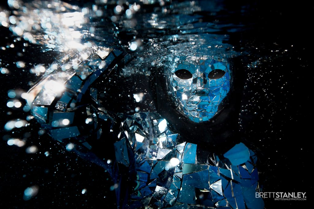 Mirror man underwater