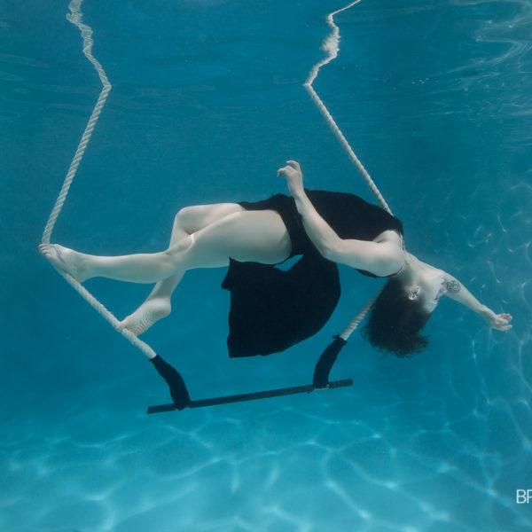 Trapeze underwater with Brett Stanley